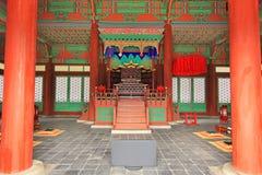 韩国传统建筑学– Gyeongheuigung 免版税库存图片