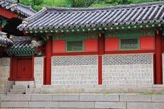 韩国传统建筑学– Gyeongheuigung 库存图片
