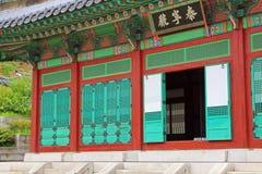 韩国传统建筑学– Gyeongheuigung 免版税库存照片