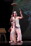 韩国传统舞蹈 免版税库存图片