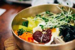韩国传统食物朝鲜拌饭 图库摄影