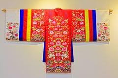 韩国传统Hanbok衣裳 免版税库存图片
