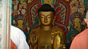 韩国佛教寺庙的菩萨 库存图片