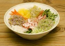 韩国全国食物。 库存照片