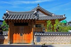 韩国全州Hanok村庄 库存照片