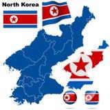 韩国北部集 皇族释放例证