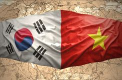韩国和越南 皇族释放例证