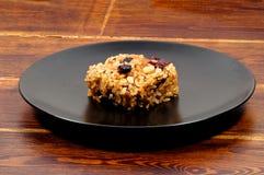 韩国在板材的米甜款待在桌 免版税库存图片