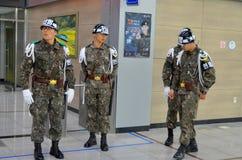 韩国士兵 免版税图库摄影