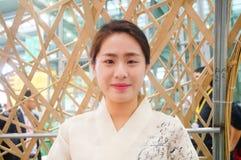 韩国妇女 免版税图库摄影