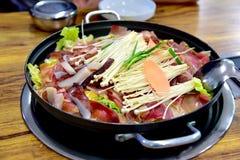 韩国式热的罐 免版税库存照片