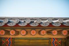 韩国样式屋顶 免版税库存照片