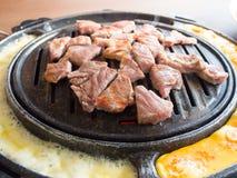 韩国样式烤肉 免版税图库摄影