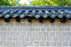 韩国样式砖墙 库存照片