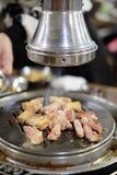 韩国样式BBQ肉/猪肚 免版税库存照片