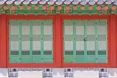 韩国汉城景福宫宫殿, Taewonjeon 图库摄影