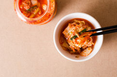 韩国泡菜圆白菜& x28; 韩国food& x29;在碗 库存照片
