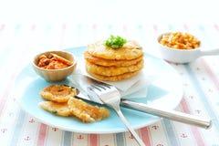 韩国泡菜土豆薄烤饼 图库摄影