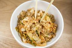 韩国泡菜沙拉 免版税库存图片