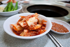 韩国泡菜韩国烹调烤肉格栅 免版税图库摄影