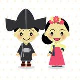 从韩国的世界孩子 免版税库存图片