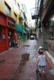 韩国的小街 免版税库存图片