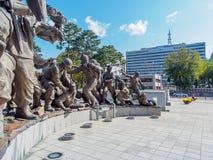 韩国的战争纪念建筑位于龙山区22日的2017的10月, 免版税库存照片