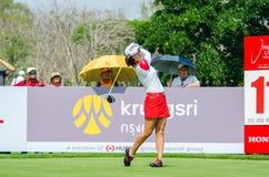 韩国的Hee年轻公园在本田LPGA泰国中2016年 免版税库存照片