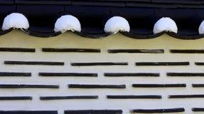 韩国篱芭墙壁背景 库存照片