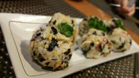 韩国米饭团 库存图片