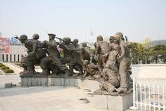 韩国纪念雕塑战争 图库摄影