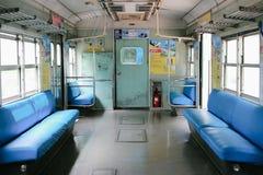 韩国老地铁内部 免版税图库摄影