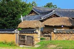 韩国联合国科教文组织世界遗产名录站点-河回村 免版税图库摄影