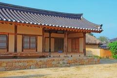 韩国联合国科教文组织世界遗产名录站点-河回村 免版税库存图片