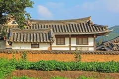 韩国联合国科教文组织世界遗产名录站点-河回村 免版税库存照片