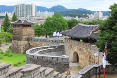 """韩国联合国科教文组织世界遗产名录选址†""""华城和水源市 免版税库存照片"""