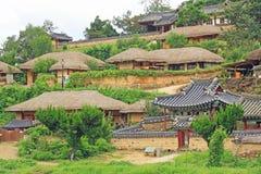 韩国联合国科教文组织世界遗产名录-庆州阳东村庄 免版税库存照片