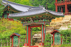 韩国联合国科教文组织世界遗产名录-汉城昌德宫宫殿 免版税库存照片