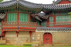 韩国联合国科教文组织世界遗产名录-汉城昌德宫宫殿 免版税库存图片