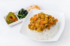 韩国膳食 库存图片