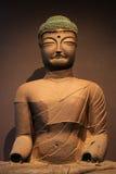 韩国菩萨雕象 免版税库存图片