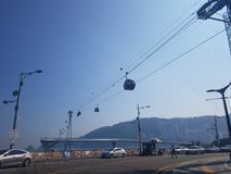 韩国釜山市 库存照片