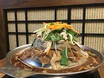 韩国食物晚餐盘 库存照片