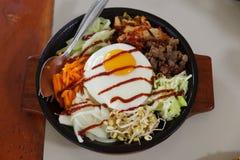 韩国食物朝鲜拌饭 库存照片
