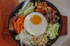 韩国食物朝鲜拌饭 库存图片