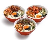 韩国食物碗 免版税库存图片