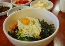 韩国食物,混杂的米Bibimbab 免版税库存图片