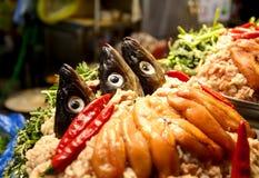 韩国鱼热的罐 免版税库存图片