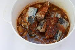 韩国鲭鱼炖煮的食物 库存照片