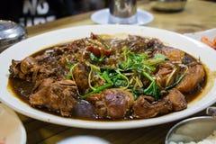 韩国鸡食物 库存照片